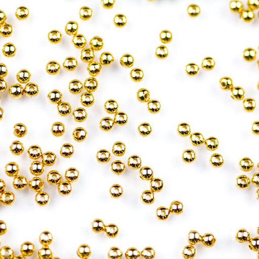 2.4mm Metal Bead - Gold