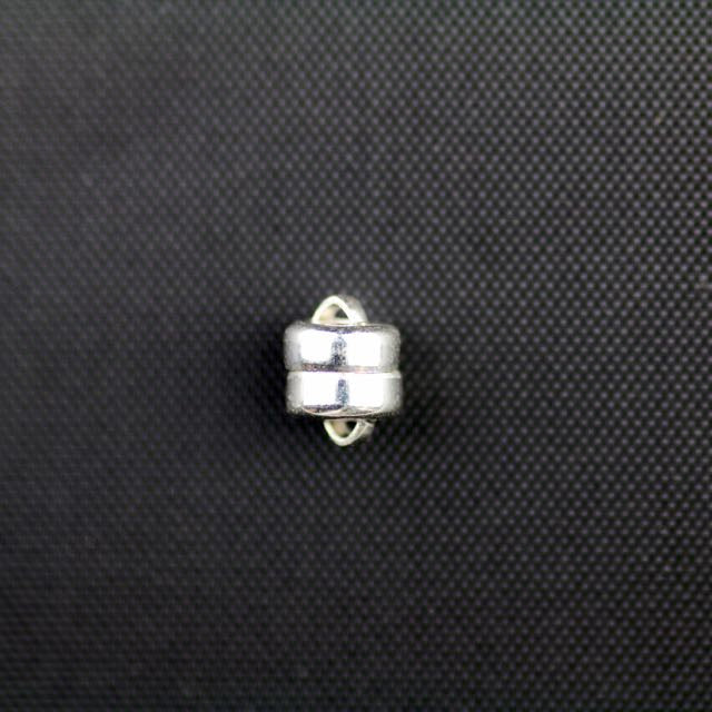 6.0mm Magnetic Clasp - Silver Plate