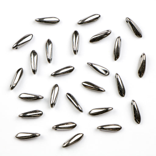 3mm x 11mm MINI DAGGER Bead - Crystal Full Chrome