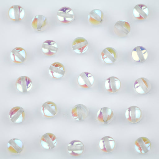 6mm Mermaid Glass Beads - Crystal Mystic***