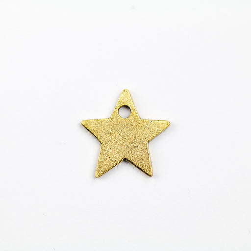 13.5mm x 13.7mm x 1.2mm Flat Star Tag - Antique Gold