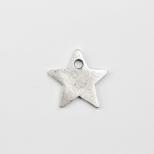 13.5mm x 13.7mm x 1.2mm Flat Star Tag - Antique Silver***