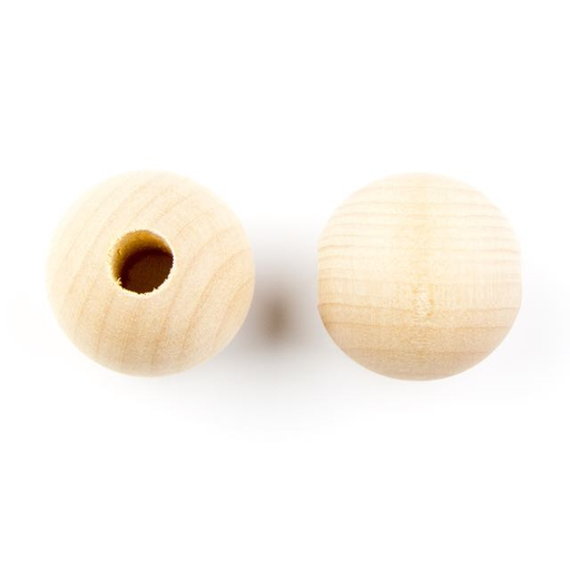 1.25mm Natural Wood Round with 8mm Hole