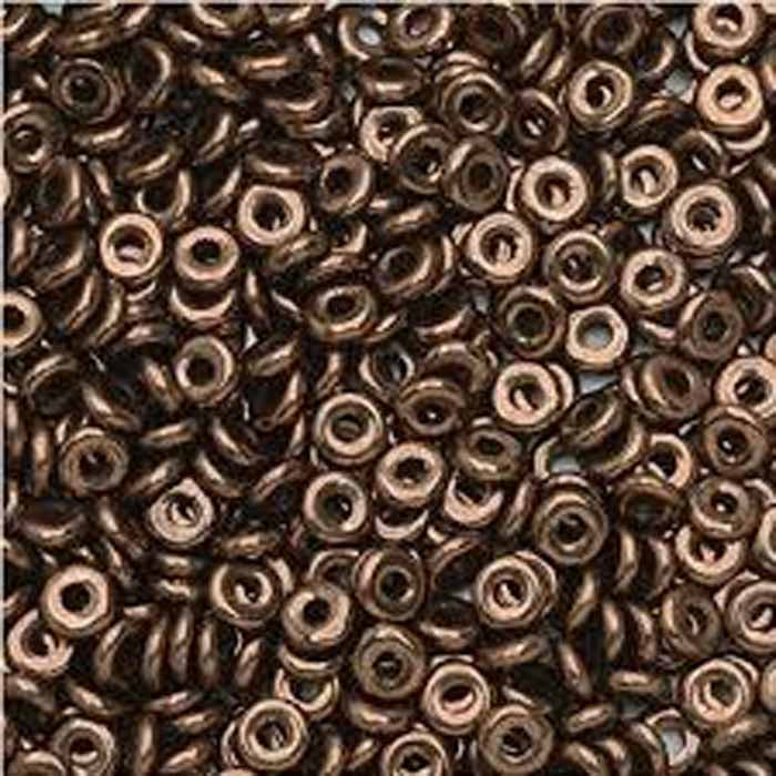 1mm x 3.8mm O Bead - Jet Bronze