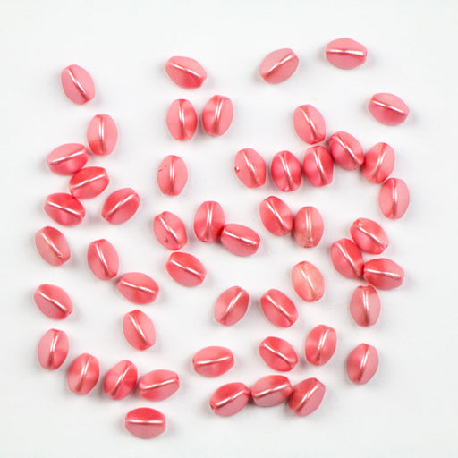 5mm x 3mm PINCH Bead - Alabaster Pastel Light Coral