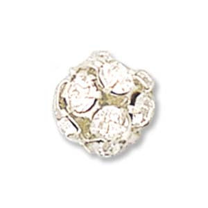 8mm Rhinestone Ball - Silver Crystal