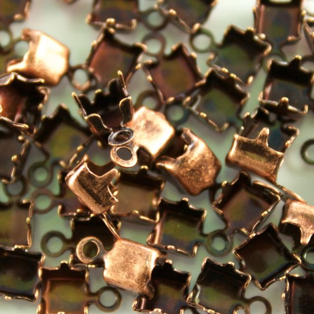 4mm Chain End for Rhinestone Chain - Antique Copper