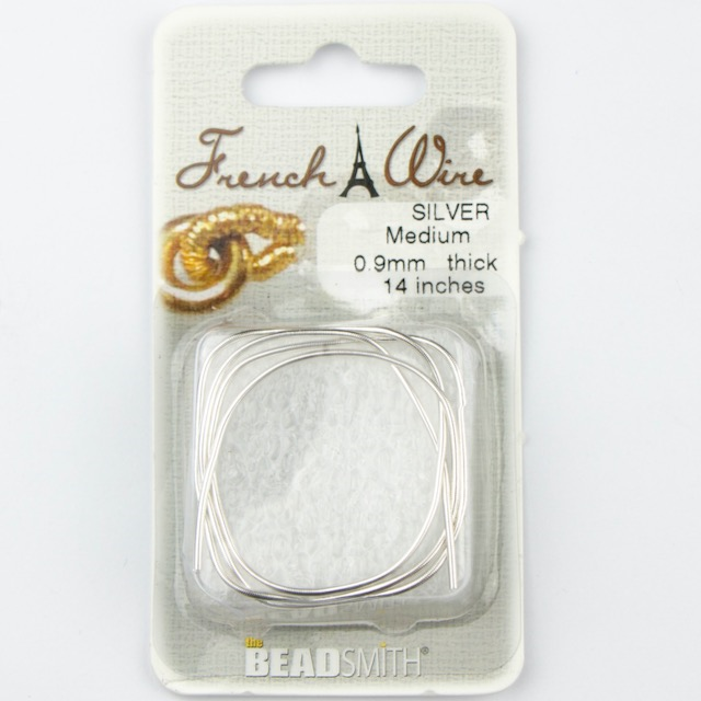 Silver 0.9mm French Wire Medium