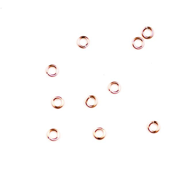 Rose Gold Filled 3mm Jump Ring - Open - .025/.64mm22ga.
