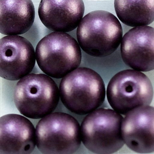 6mm Druk - Alabaster Pastel Bordeaux