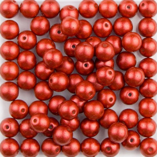 6mm Druk - Metallic Lava Red