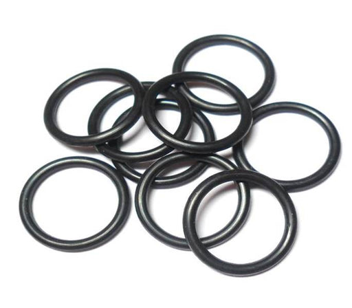 14swg (2.0mm) 1/2in. (14.0mm) ID 7.0AR  EPDM Rubber Jump Rings - Black