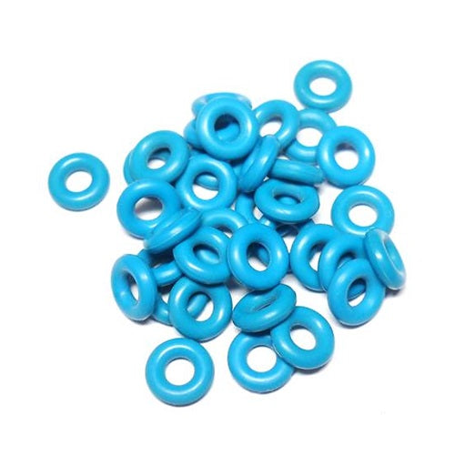 14swg (2.0mm) 1/8in. (3.0mm) ID 1.5AR EPDM Rubber Jump Rings - Azure