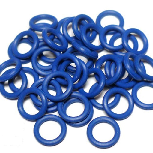 16swg (1.6mm) 1/4in. (6.7mm) ID 4.1AR  EPDM Rubber Jump Rings - Dark Blue