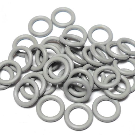 18swg (1.2mm) 9/64in. (3.5mm) ID 3.0AR  EPDM Rubber Jump Rings - Pewter