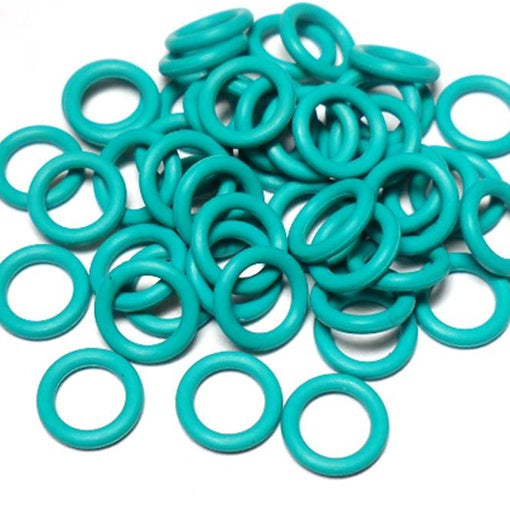 19swg (1.0mm) 5/64in. (2.0mm) ID 2.0AR  EPDM Rubber Jump Rings - Teal