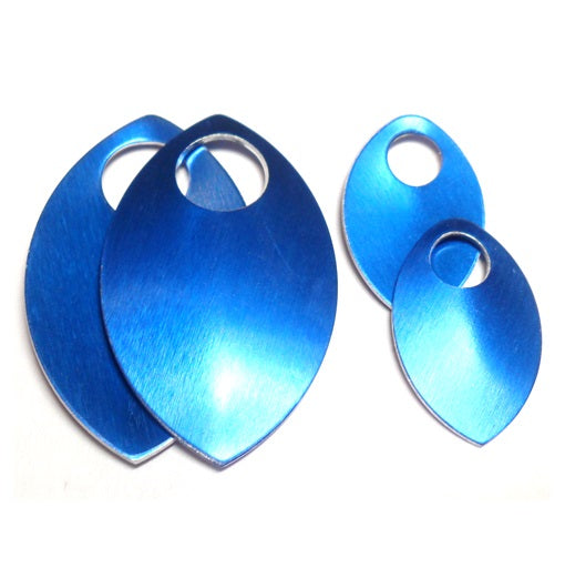 Large - Regular Finish Anodized Aluminum Scales - Blue