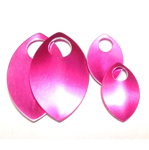 Small - Regular Finish Anodized Aluminum Scales - Hot Pink