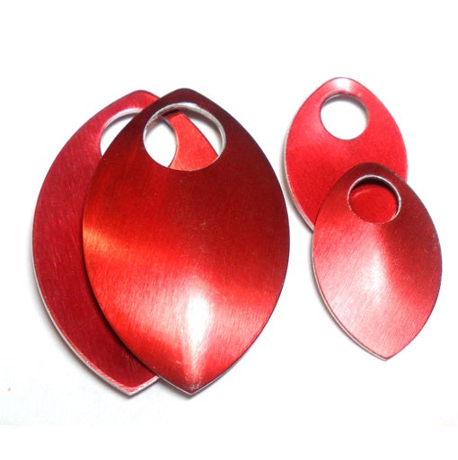 Small - Regular Finish Anodized Aluminum Scales - Red