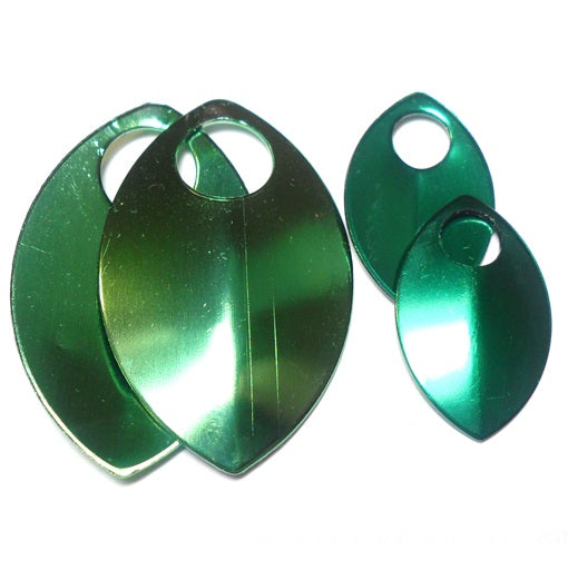 Small - Premium Shiny Finish Anodized Aluminum Scales - Green