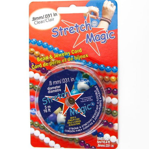 0.8mm (.031 in.) Diameter Stretch Magic Elastic - Clear