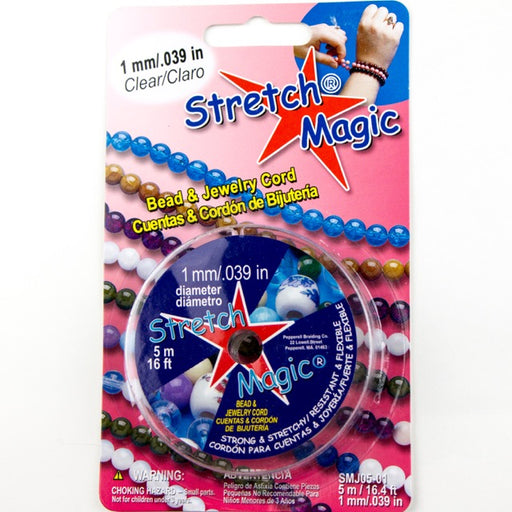 1.0mm (.039 in) Diameter Stretch Magic Elastic - Clear