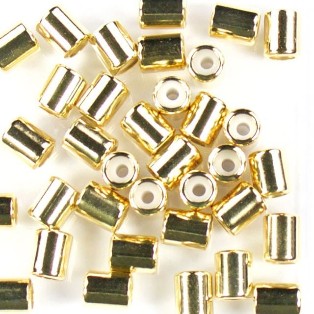 5.5mm x 7mm Slide on Clasp w 2mm Hole - Gold