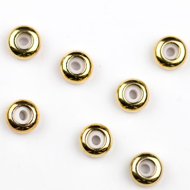 8mm x 4mm Slide on Clasp w 3.5mm Hole - Gold