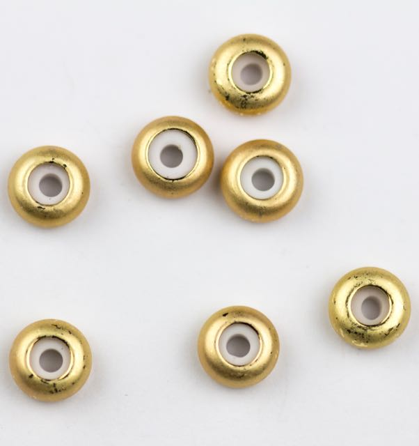 8mm x 4mm Slide on Clasp w 3.5mm Hole - Satin Hamilton Gold