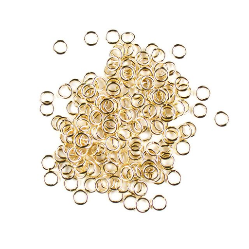 6mm 18 gauge Closed Jump Rings - Gold