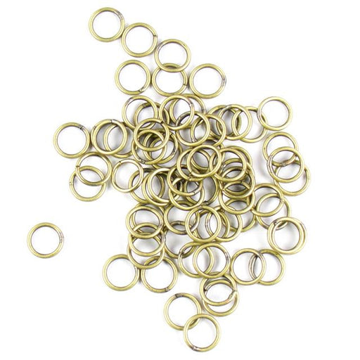 8mm 18 gauge Closed Jump Rings - Antique Brass