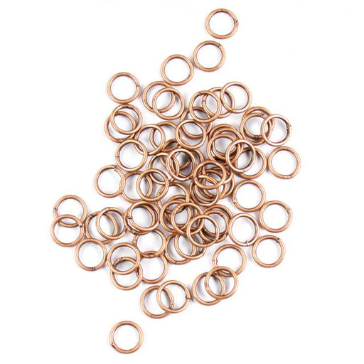 8mm 18 gauge Closed Jump Rings - Antique Copper