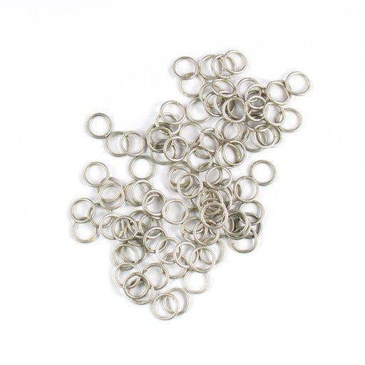 8mm 18 gauge Closed Jump Rings - Antique Silver
