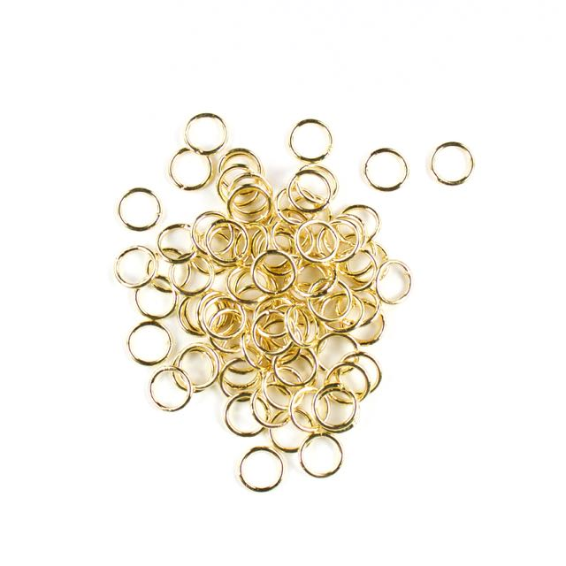 8mm Closed Jump Rings - Gold