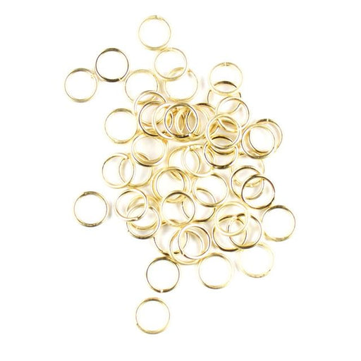 8mm 18 gauge Closed Jump Rings - Satin Hamilton Gold