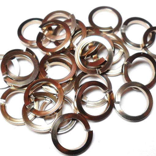 18swg (1.2mm) 3/16in. (5.0mm) ID Square Wire Anodized Aluminum Jump Rings - Champagne