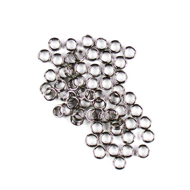 5mm Split Rings - Black