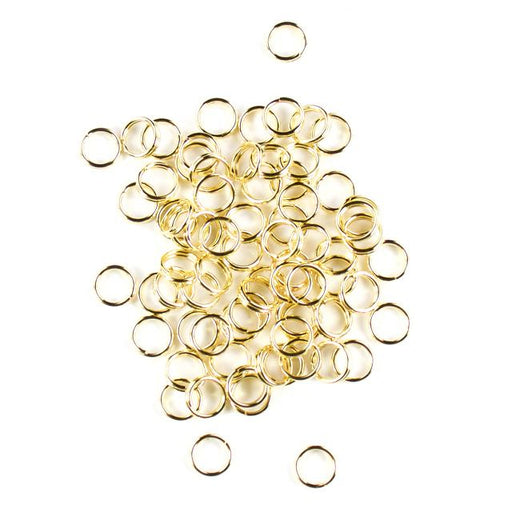7mm Split Rings - Gold
