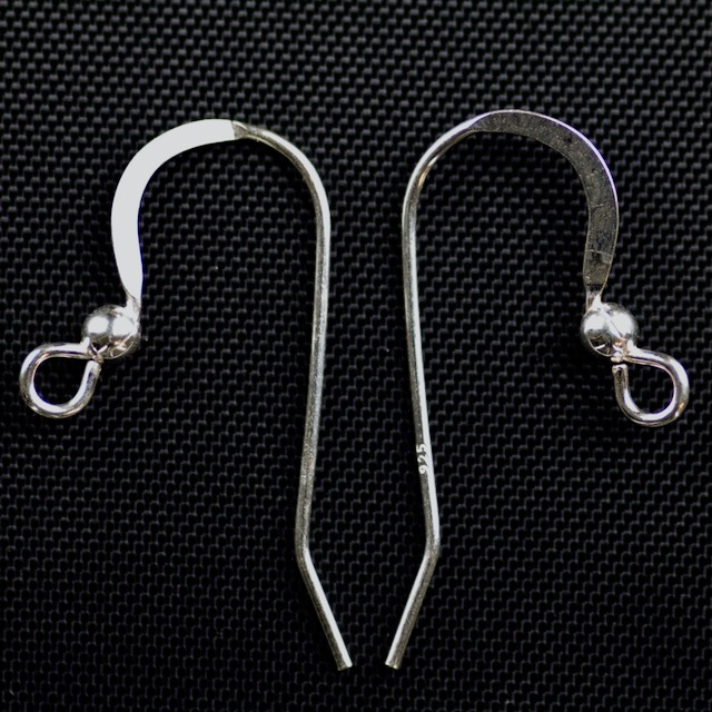"Sterling Silver  Ear Wire .028""/.7mm/21 gauge Round Wire with 2.5mm Ball"