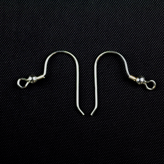 Sterling Silver - Ear Wire .028/.7mm/21 ga. Round Wire w/3mm Ball & Coil
