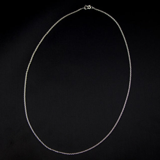 "18"" Sterling Silver Finished Cable Chain"