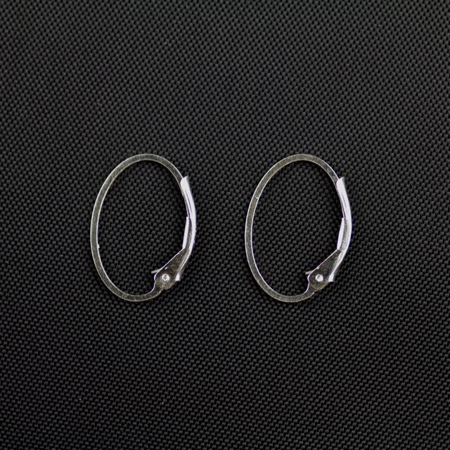 Sterling Silver Oval Lever Back Interchangable Loop