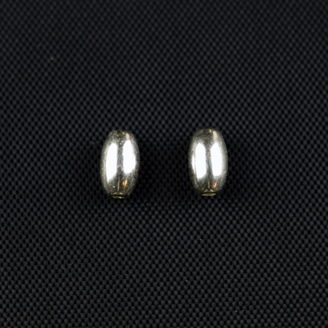 Sterling Silver 4mm x 7mm Smooth Oval Bead