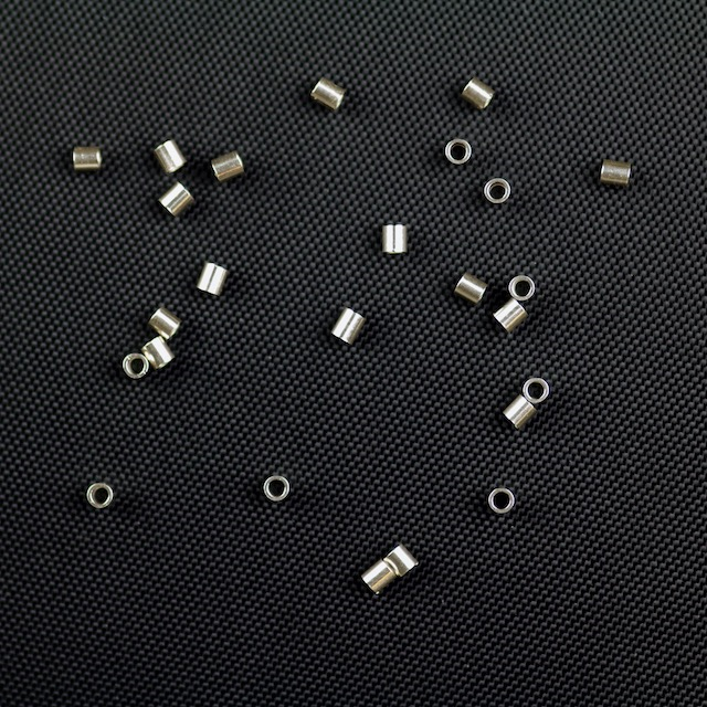 Sterling Silver 2mm x 2mm Crimp Bead