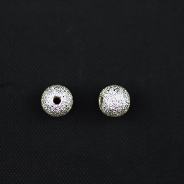 Sterling Silver 6mm Sparkle Bead with 1.5mm Hole