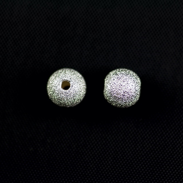 Sterling Silver 8mm Sparkle Bead with 1.8mm Hole