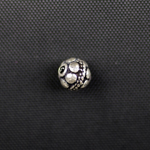 Sterling Silver 6mm Bali Bead
