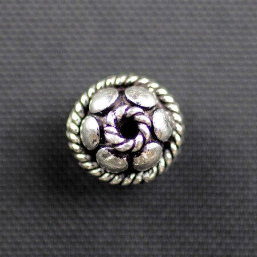 Sterling Silver 8mm Bali Bead