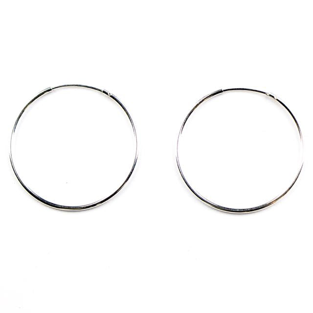 Sterling Silver Endless Tubular Hoop w/Hinged Wire - 1.25mm Tubing / 30mm OD