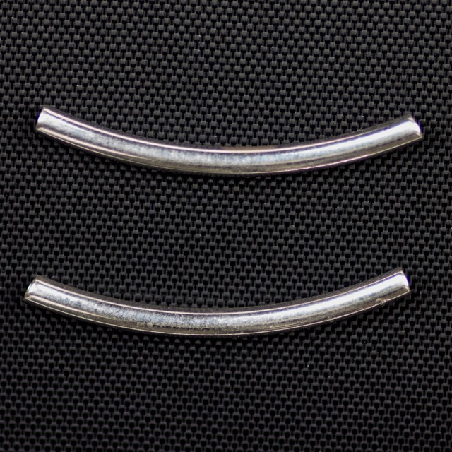 Sterling Silver 2mm x 25mm Curved Tube
